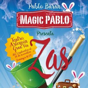 Imagen del cartel del espectáculo de magia ZAS de Noizze Media