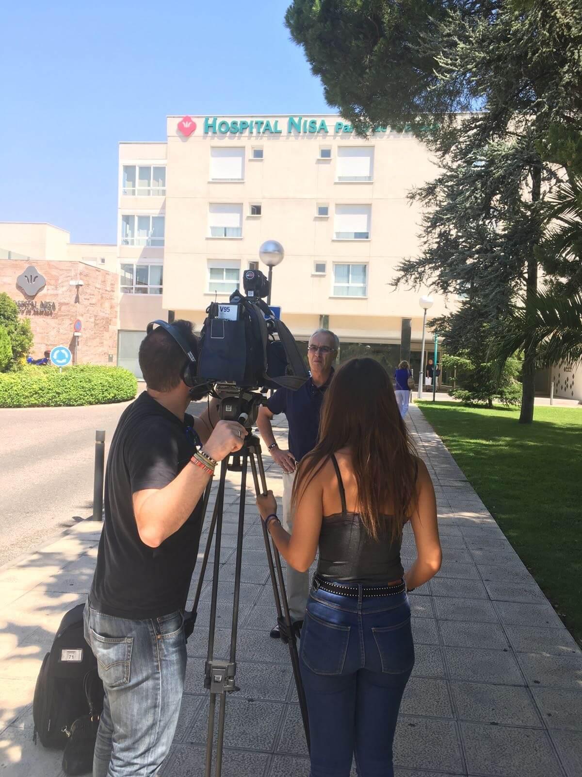 Imagen entrevista en el hospital Niza