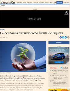 Noticia de Foro Economía Circular en Expansión