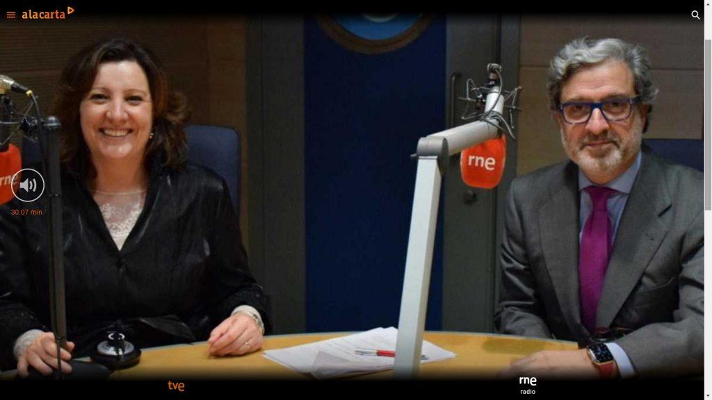 portavoz entrevistado en radio