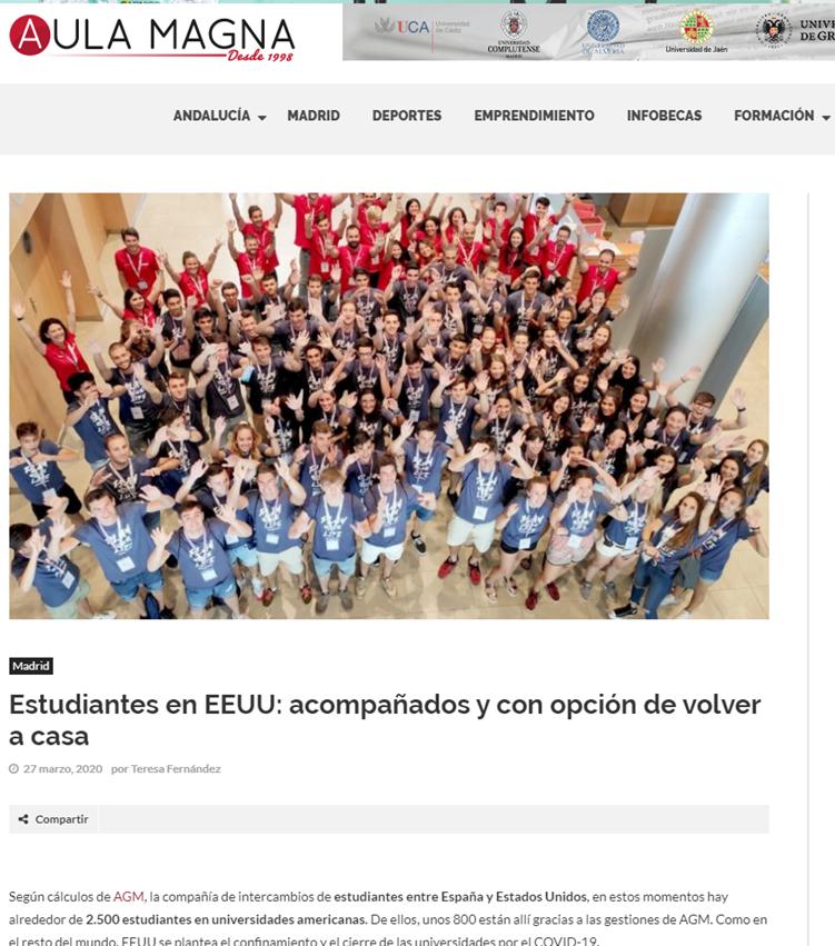 noticia con foto de estudiantes