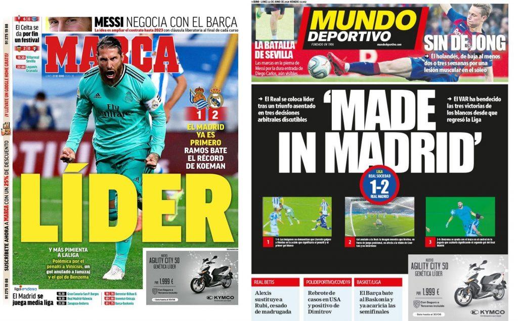 Portada de Marca y Mundo Deportivo