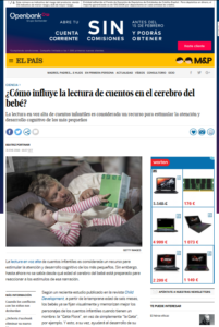 Pantallazo de El País